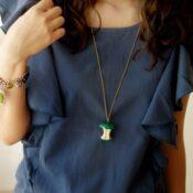 Apple Core Necklace