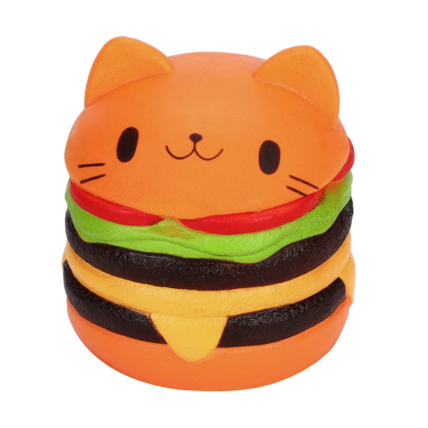 Squishy Hamburger Cat : Cat Hamburger Jumbo Slow Rising Squishy ?7.99 buy at Something kawaii UK