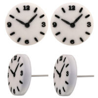 Clock face Earring studs