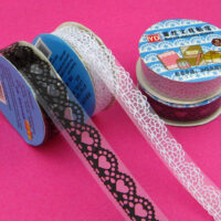 Coloured Lace Kawaii Deco Tape - Small