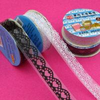 Coloured Lace Kawaii Deco Tape - Small