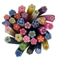 Fimo Nail Art Polymer Clay Flower Cane