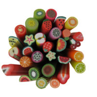 Fimo Nail Art Polymer Clay Fruit Cane