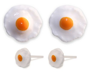Fried Egg Earring studs