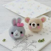 Hamanaka Needle Felting Kit - Bunny & Bear