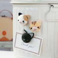 Hamanaka Needle Felting Kit - Cat Magnets