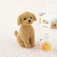 Hamanaka Needle Felting Kit - Toy Poodle