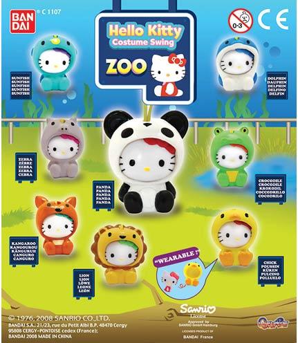 Hello Kitty costume swing Zoo Charm