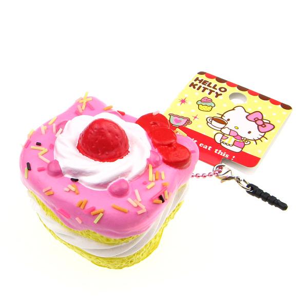 Hello Kitty Squishy Cake And Stand : Hello Kitty Sweet Cake Squishy Charm ?7.99 buy at Something kawaii UK
