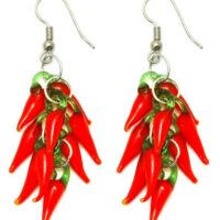 Hot Red Chilli Drop Earrings