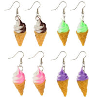 Ice Cream Cone Drop Earrings