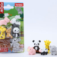 Iwako Eraser Set - Animals Blister Pack
