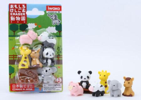 Iwako Eraser Set - Animals Blister Pack