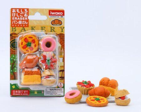 Iwako Eraser Set - Bakery Blister Pack