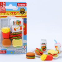 Iwako Eraser Set - Fast Food Blister Pack