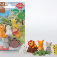 Iwako Eraser Set -  Safari Animals Blister Pack