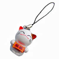 Japanese Cat Phone charm