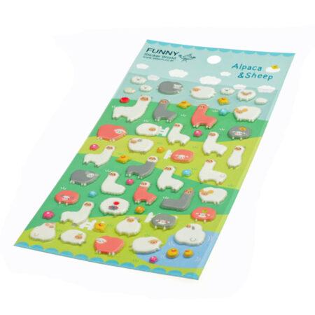 Kawaii Alpaca & Sheep 3D Sponge Stickers
