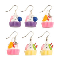 kawaii Cupcake Drop Earrings