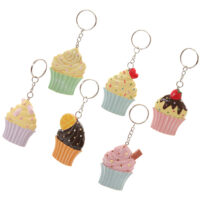 Kawaii Cupcake Keyring