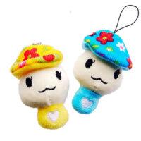 kawaii Mushroom plush phone charm