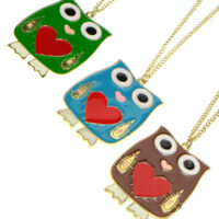 kawaii Owl Sweater Necklace