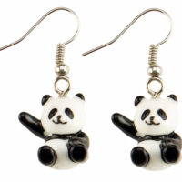 kawaii Panda Drop Earrings