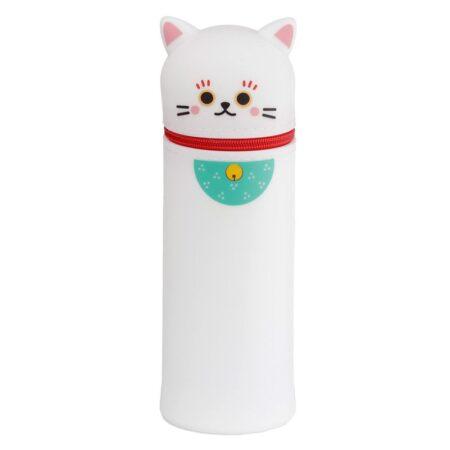 maneki_neko_lucky_cat_silicon_stand_up_pencil_case