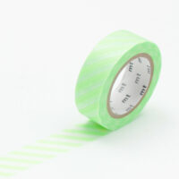 mt Washi Tape - Stripe Shocking Green