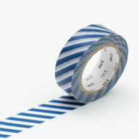 mt Washi Tape - Stripe Marine Blue