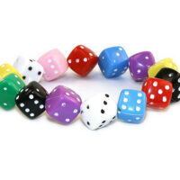 Multi coloured Dice Bracelet