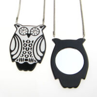 Owl Necklace With Mirror