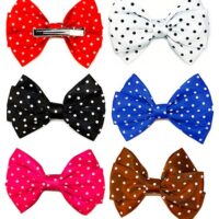 Polka dot Bow Hair Slides