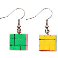 Rubix Cube Drop Earrings