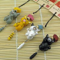 Sleepy Cat Phone Charm
