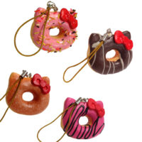 Small Hello Kitty Sweets Cafe Doughnut Squishy Charm