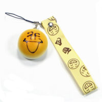 Smiley Face Bread Phone Charm