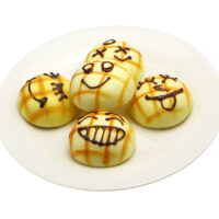 Scented Smiley Face Melon Bun Squishy Charm