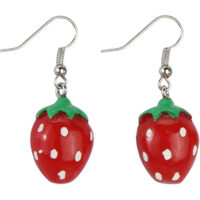 Strawberry Enamel Drop Earrings