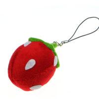 Strawberry plush phone charm