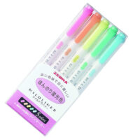 zebra_mildliner_pastel_colour_highlighters_wkt7-5c_set_of_5